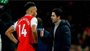 Arteta Believes Aubameyang Will Rise Again